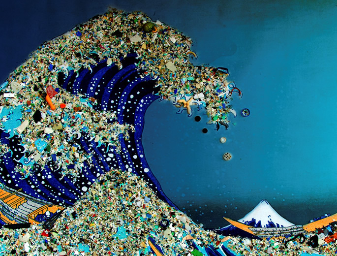 Bonnie Monteleone, What Goes Around, Comes Around - The Plastic Ocean Project